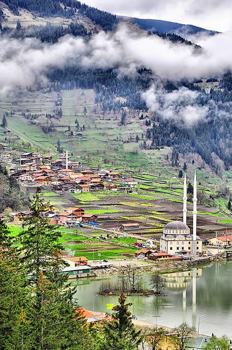 Uzungöl is a small Turkish village, near the town of Trabzon. Turkey