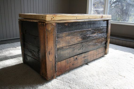 Indoor/ Outdoor Pallet Wood Storage Box By UpcycledWoodworks, $250.00 Chest  In Front Of My