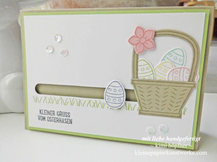 #kullerkarte mit dem produktpaket #osterkörbchen von #stampinup #osterkarte #ostern
