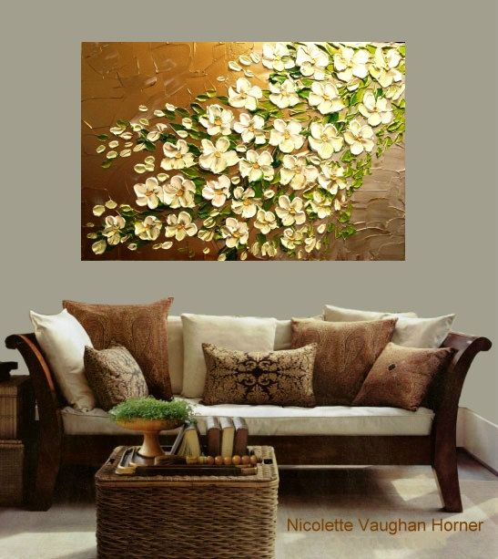 Large  gallery wrap canvas impasto abstract
