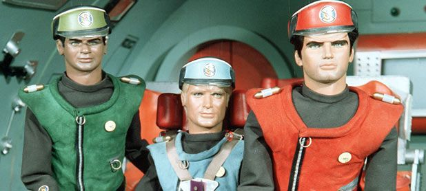 Lieutenant Green, Captain Blue and Captain Scarlet from 'Captain Scarlet And The Mysterons'