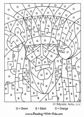 Wonderful Halloween Color By Letter Frankenstein Coloring Page