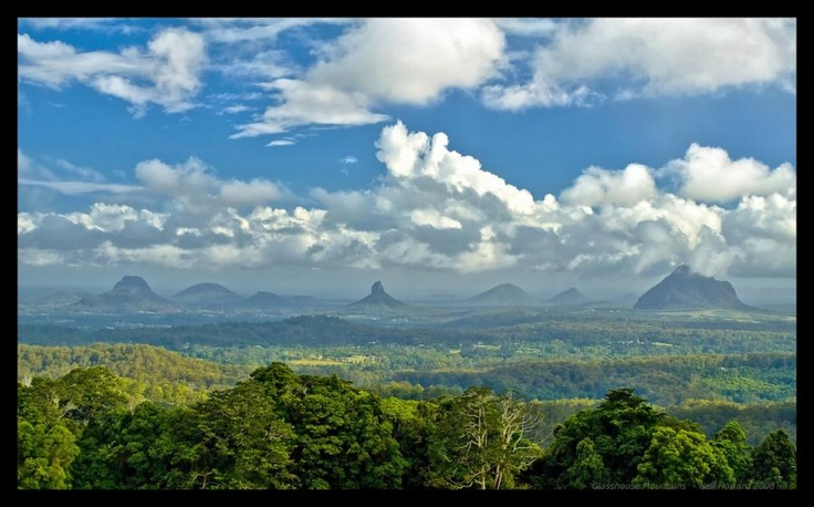 Glass House Mountains National Park , Queensland - got to climb 1 mountain with my husband and kids :-)