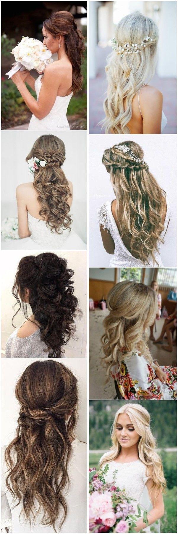 20 Half Up Half Down Hochzeitsfrisuren, die jeder lieben würde #Hochzeiten #Hochzeitshaar …   – Wedding Hairstyles