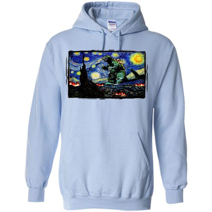 Godzilla versus Starry Night T-Shirt