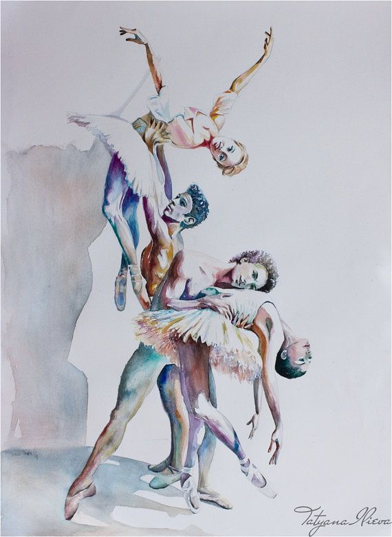Original Watercolor Painting Playing the Angel by TatyanaIlieva, $350.00