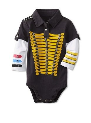 62% OFF Mini Shatsu Kid's Hendrix Polo Bodysuit (Black/yellow)