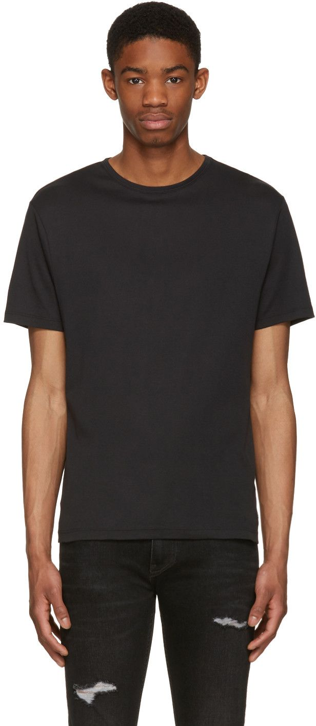BLK DNM Black Classic Fitted Greaser 43 T-Shirt. #blkdnm #cloth #t-shirt