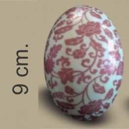 Categoría: Moldes Plasticos - Producto: Molde Huevo Pascua Con Transfer Nº  9 Rosas Rojas - Envase: Bolsa - Presentación: X    4 Unid. - Marca: Lodiser