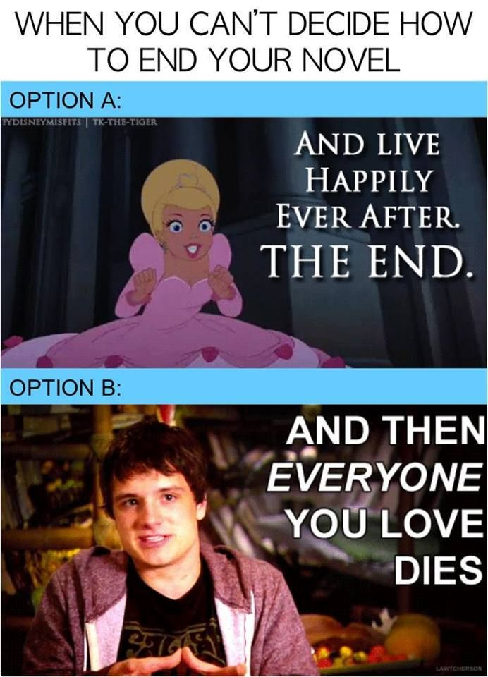 There are two types of endings