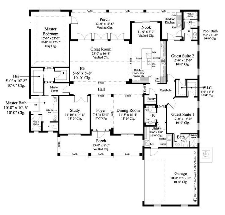 Award Winning House Plans Ranch: 317 Best Images About Luxury Home Plans