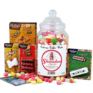 The Joker's Hamper is a fun filled gift packed full of delicious sweets accompanied by Ridleys classic Jokes. A gift for all reasons and seasons. This gift is presented in Stylish Cellophane Wrap with Ribbon.