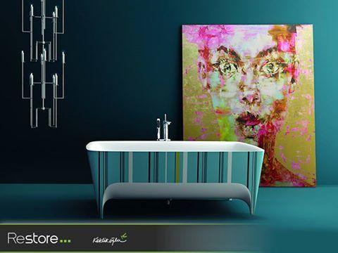 Sanatın banyolardaki yansıması #Teuco #RestoreKeklikoğlu #Banyo #Küvet #Bathroom #Tub #BathTub