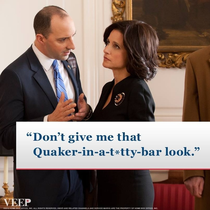 the dynamic of these two characters is fantastic in veep