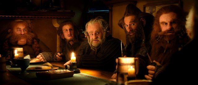 Still of Jed Brophy, Mark Hadlow, Peter Hambleton, Stephen Hunter and Adam Brown in The Hobbit: An Unexpected Journey