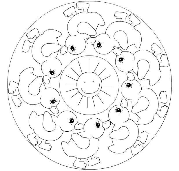 Basit Mandala Googleda Ara Mandala Mandala Coloring Mandala