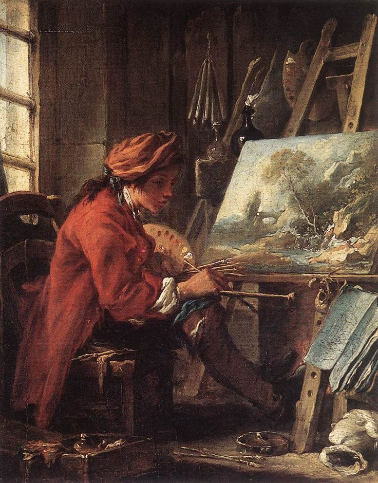 The Painter in his Studio  - Francois Boucher, 1735