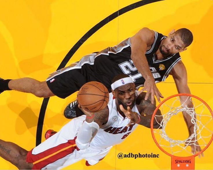 #NBAFinalsMemories 2013 @nba Finals @spurs vs @miamiheat. @kingjames vs Tim Duncan. #nbafinals