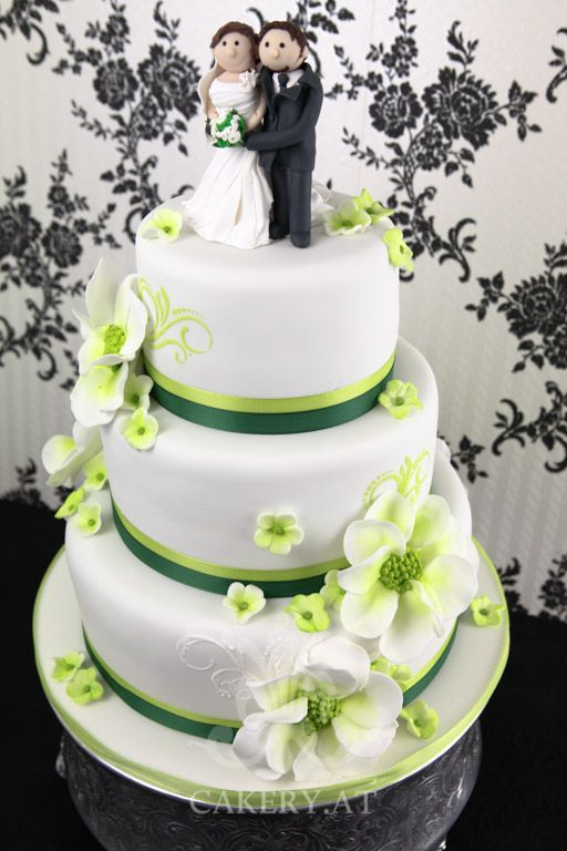 Green Fantasy wedding cake ~ Austria