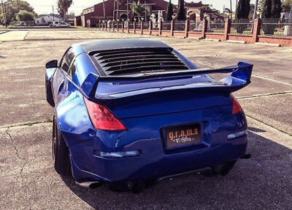 Carbon Rear Window Louvers Roof Spoiler To Fit Nissan 350z Etsy Nissan 350z Nissan 350z Custom Nissan
