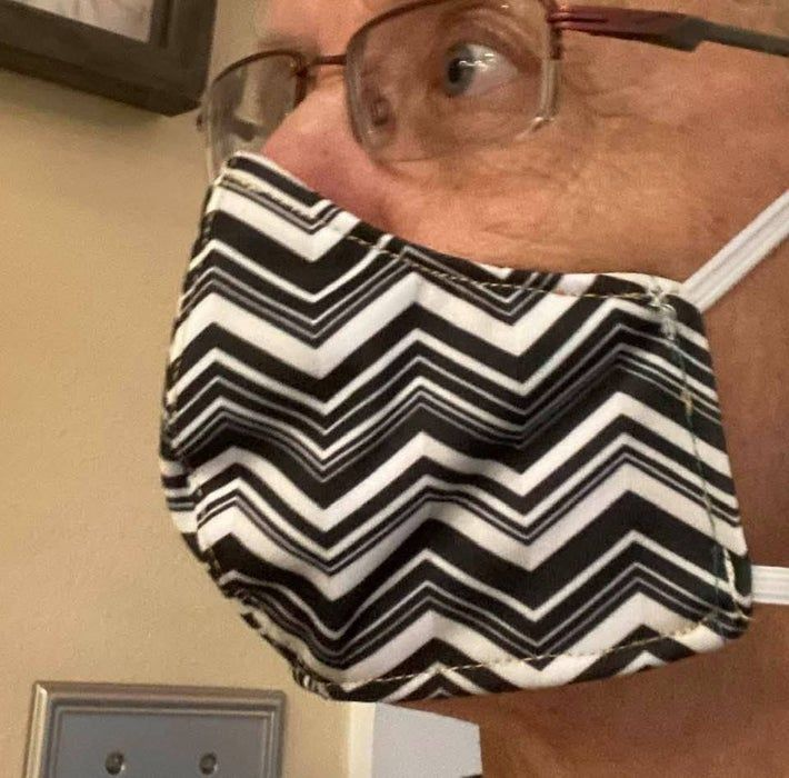Cdc Approved Cloth Face Mask With N95 Filter In 2020 Hand Sewing
