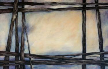 """Saatchi Art Artist Marjan Fahimi;  """"The Window"""" - Oil on wood - 90x140 cm #art"""