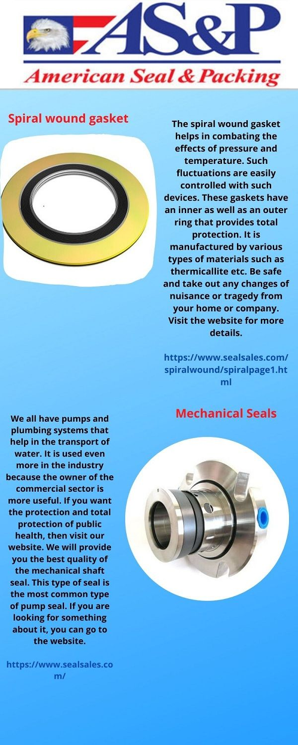 What Is A Spiral Wound Gasket In 2020 Mechanic Seal Online Seal