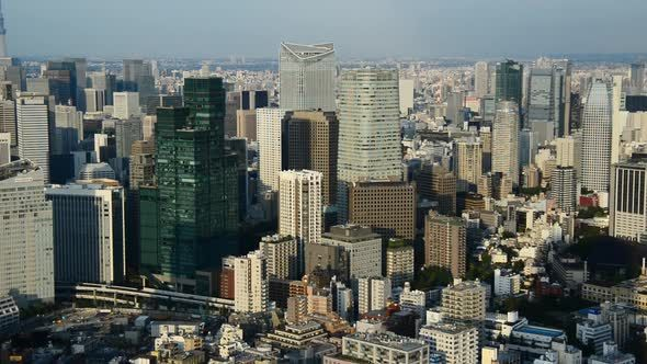 View Of Tokyo Skyline From Roppongi Hills Tower - Tokyo Japan 3 by mountairyfilms Tokyo Skyline.
