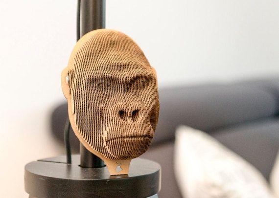 Gorilla - cardboard head