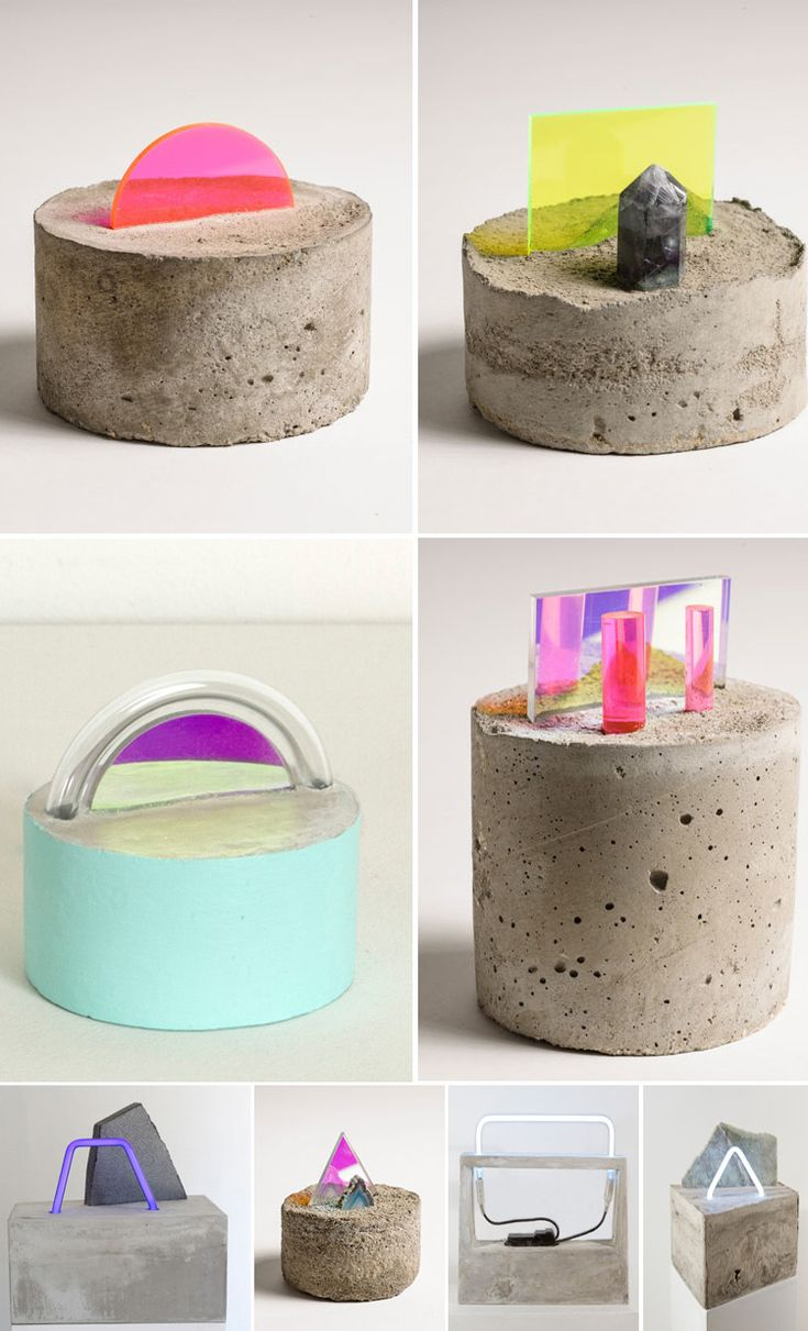 I've had the work of Brooklyn based artist Esther Ruiz open on my desktop for at least a week. These small concrete, plexi, glass and neon sculptures are the bomb dot com. Just thought I would thro...