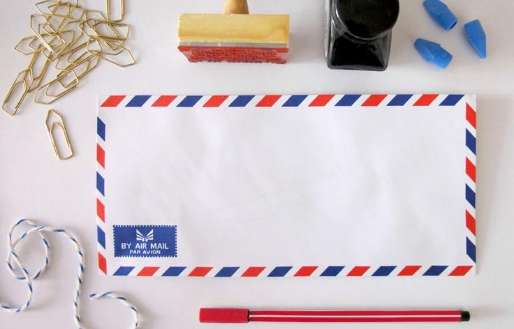 Envelopes retrô, conjunto com 6 unidades,  R$ 5,00