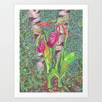 Art Print featuring Lady Slippers by Juliana Kroscen