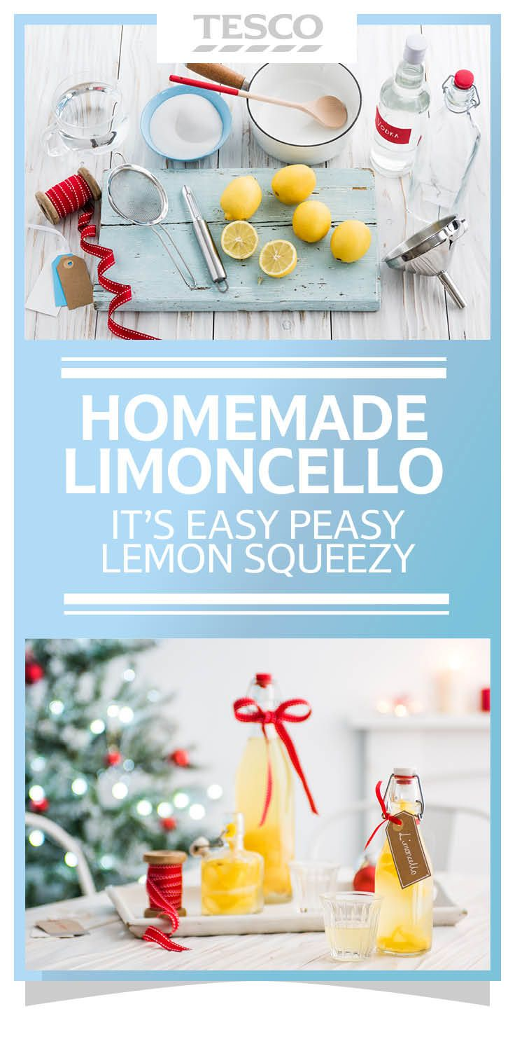 Homemade edible gift: Use leftover lemons to make a sweet after-dinner liqueur before giving to a loved one as a Christmas present. Or you make mini ones as Christmas table favours.