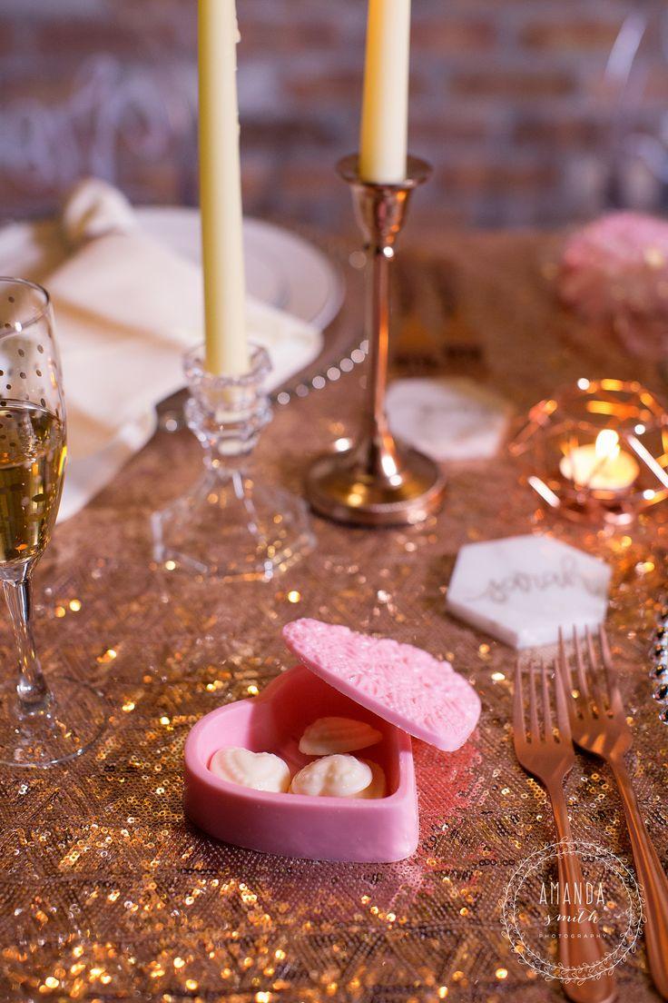 Heart Wedding Favors, Pink Wedding Favors, Chocolate Wedding Favors, Box Wedding Favors  JN Event Design   www.jneventdesign.com