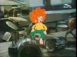Pumuckl is a Kobold from a German radio play series for children. He is a descendant of the Klabautermänner. He is invisible to people around him except for the master carpenter Eder with whom Pumuckl lives. Pumuckl was invented by Ellis Kaut for a radio play series of the Bavarian Radio in 1961. The series were directed by Ulrich König.