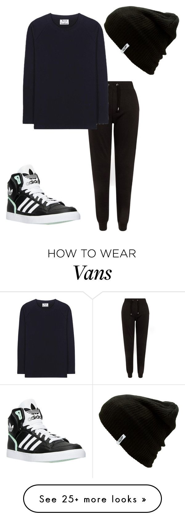 """black friday shopping (my outfit for this friday)"" by j-j-fandoms on Polyvore featuring New Look, adidas, Acne Studios and Vans"
