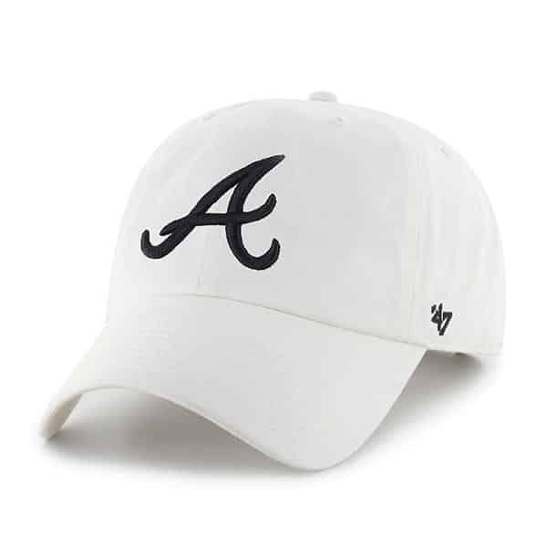 Atlanta Braves 47 Brand White Clean Up Adjustable Hat Atlanta Braves Detroit Game Adjustable Hat