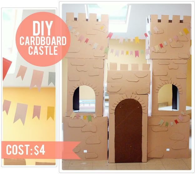 DIY cardboard castle from The Busy Budgeting Mama