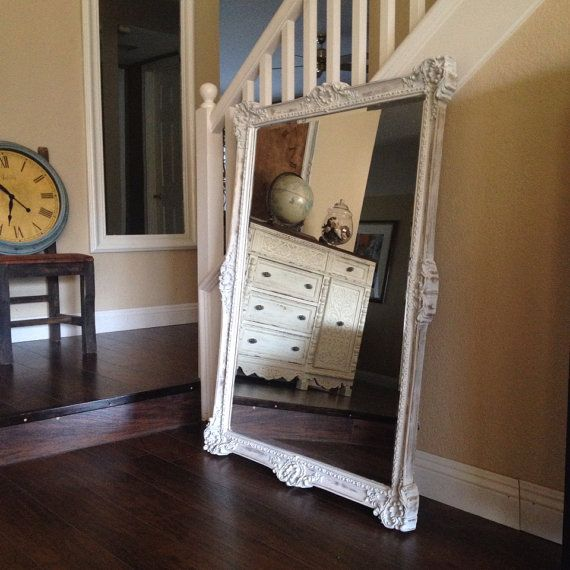 fabulous large white mirror shabby chic mirror by