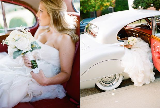 Officially obsessed with pictures of brides in vintage cars. Oh, and this Vera Wang wedding dress too! Tennessee Romance: Why Southerners Have the Loveliest Weddings via @Grey Likes