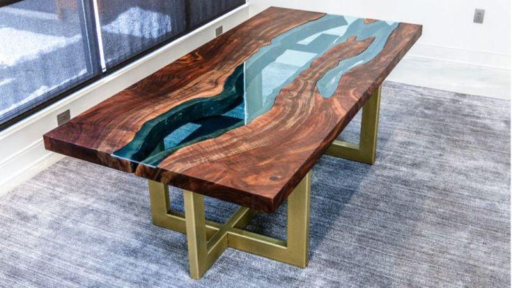 John maleckis diy live edge river table with glass