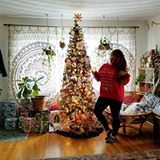 """""""The Tree Isn't The Only Thing Getting Lit This Year"""" 🙏🎄💖 ___________________________ The presents are wrapped, the goods are baked, and the Christmas movies are playing. We made it! Have a merry Christmas my friends! I hope you are warm and happy and healthy through this next year ☮❤☺ ___________________________ #showmeyourboho #rsholiday #ggholiday #showusyourdecor #walltowallstyle #myhometrend #makehomeyours #bohoinspo #bohome #abmlifeissweet #houseplanthome #interior4all…"""