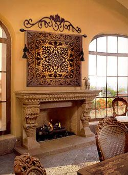 25+ best Mediterranean fireplaces and accessories ideas on ...