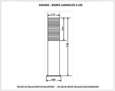 Borne Extérieure en Bois LED Grande | Eclairage | Locker storage ...