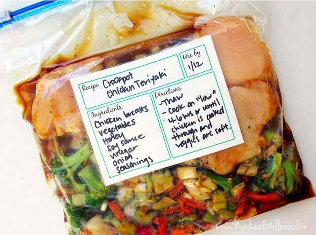 Place everything in freezer bag, freeze until ready. Then dump in crockpot!