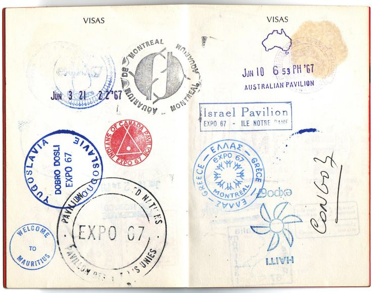 Expo 67 Passport Expo 67 Passport Stamps