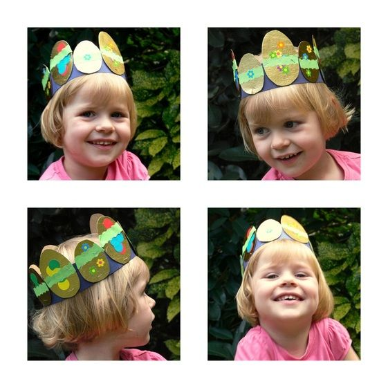 kids easter egg crown