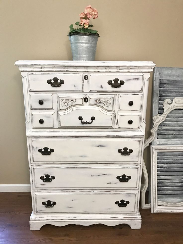 items similar to soldwhite distressed highboy dresser on etsy