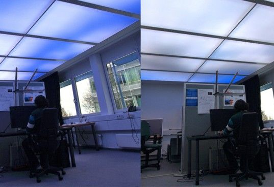 LED Virtual Sky Promises to Make Office Spaces More Pleasant | Inhabitat - Sustainable Design Innovation, Eco Architecture, Green Building