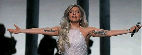 Pin for Later: Lady Gaga's Awesome Oscars Night Went Way Beyond the Stage Lady Gaga was just living for the applause.